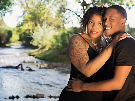Couple Portrait - Down by the creek