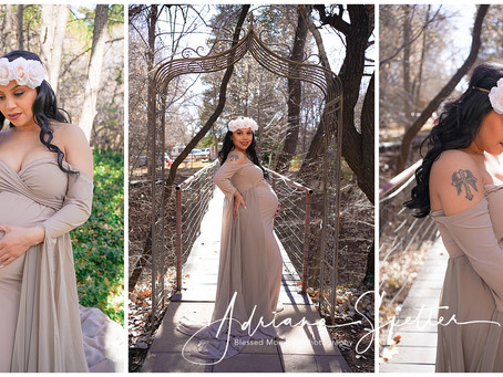 Maternity photos at White Sands and the Mountain - JulieR