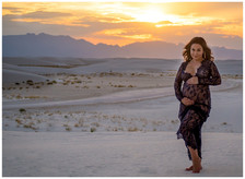 White Sands Sunset Maternity Photos