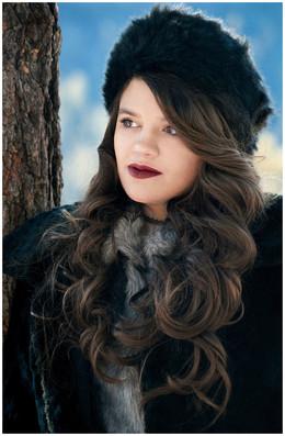 Cloudcroft Snow Stylish Senior Photography