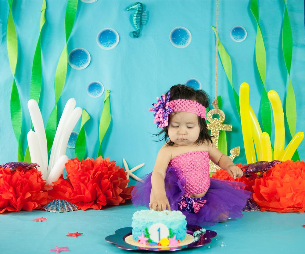 Alamogordo Smash Cake Photography