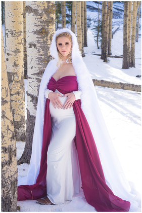 Snow Maternity Photography