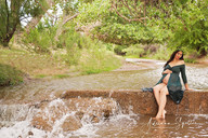Maternity photos at creek