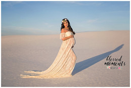 Las Cruces Maternity photos at White Sands