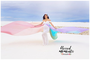 Pastel Rainbow Maternity Dress