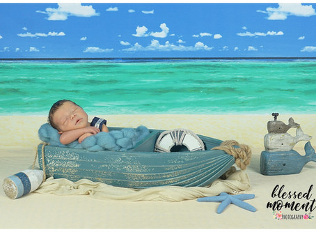 A whale of a newborn photoshoot