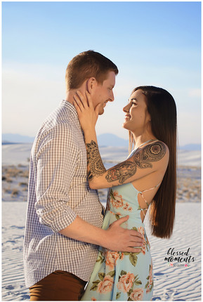 White Sands Couple Photographer