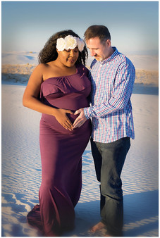 White Sands Maternity Photos Proud Pappa