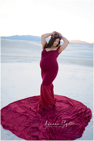 Burgandy Maternity gown long flowing train