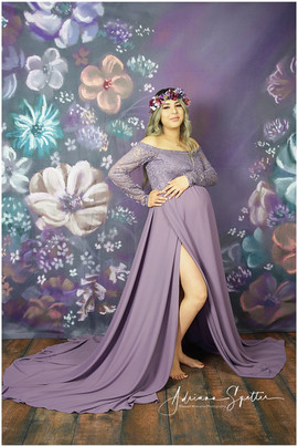 Dusty Lavender maternity gown