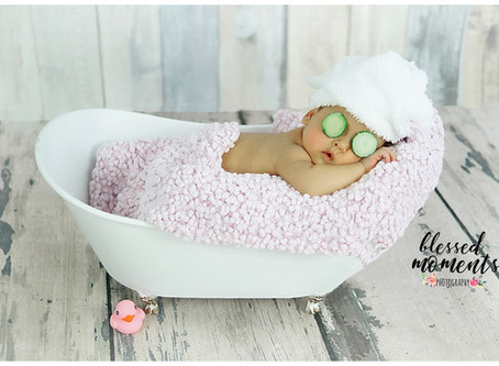 Newborn photography - Spa day for Lily