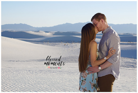 White Sands Couple Photography