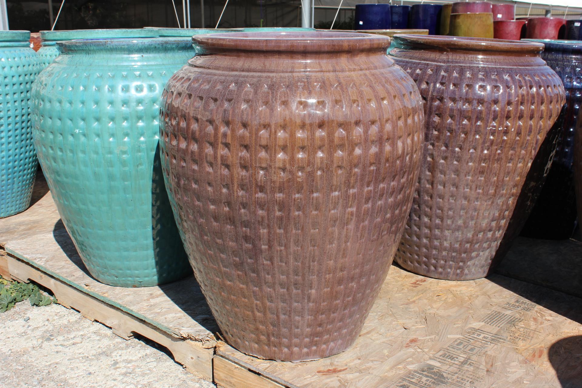 Large Dimpled Water Jar