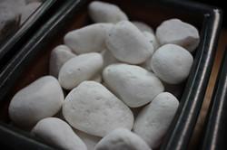 Snow White Stones 2 - 3 cm