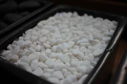 Snow White Pebbles .5 - 1.5 cm