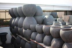 Low Vase Pot (Hammered)
