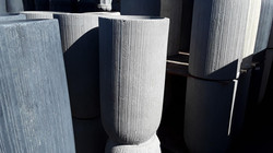 Tall Round Vertical Ribbed