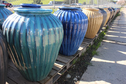 Vertical Ribbed Water Jar