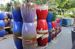 Chinese Glazed Ceramic Drip Pots