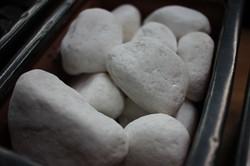Snow White Stones 3 - 5 cm
