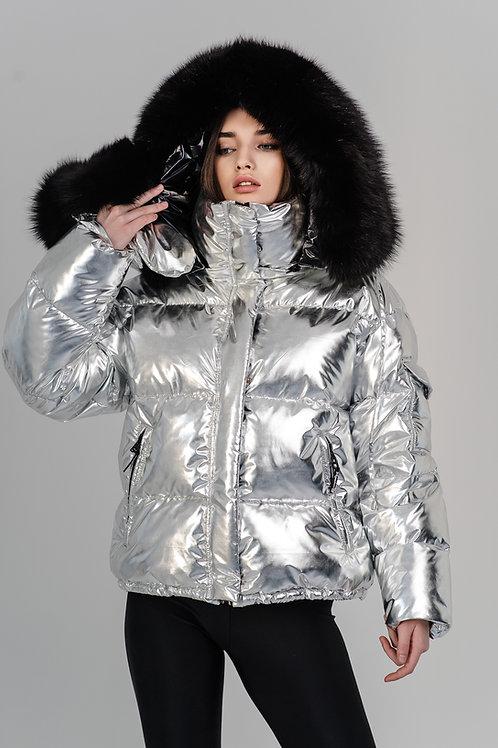 Silver metallic down jacket Standart 15790₽ Midi 19790₽ Maxi 23790₽
