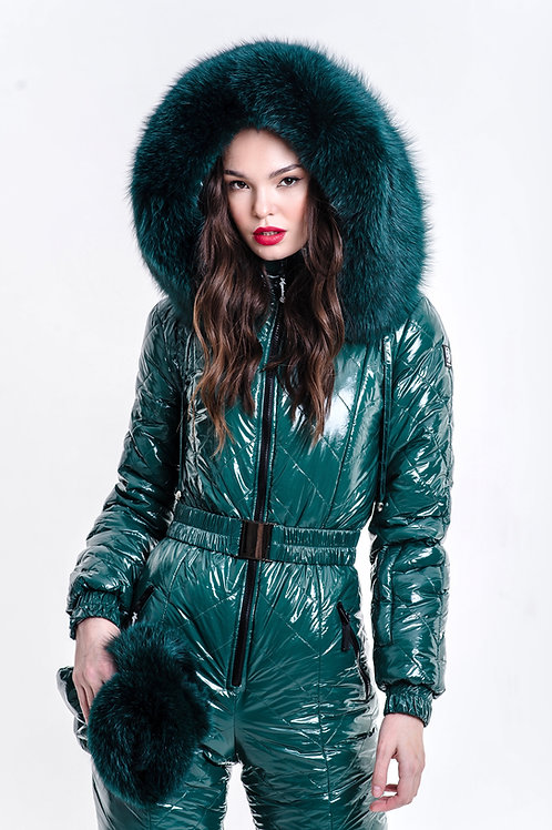 EMERALD GREEN WITH GREEN FUR