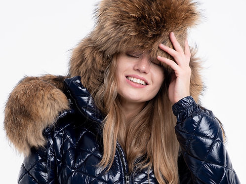 HAT WITH RACCOON FUR