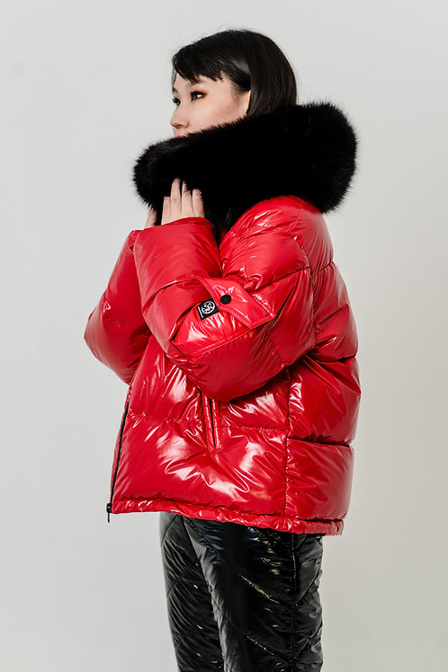 Fiery red moncler costume