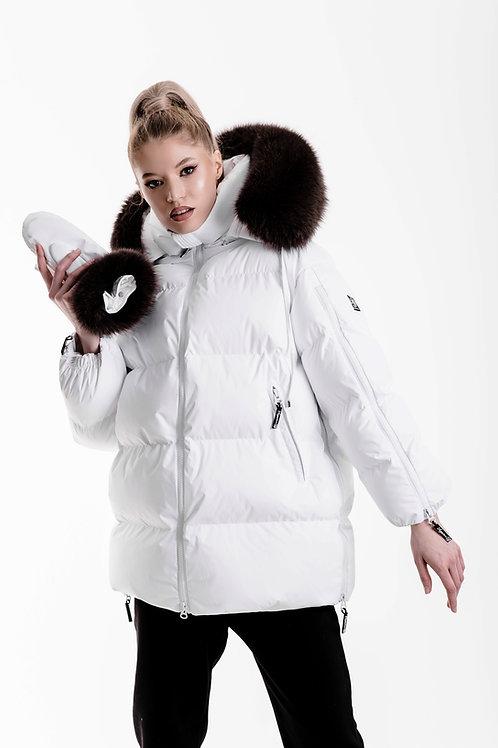 WHITE WITH DARK FUR Zipper Supreme STANDART 17790₽ Midi 19790₽ Maxi 23790₽