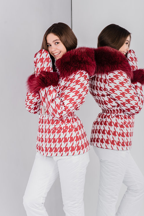 RED&WHITE HOUNDSTOOTH COSTUME