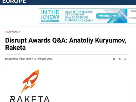 Business Travel News: Disrupt Awards Q&A: Anatoliy Kuryumov, Raketa