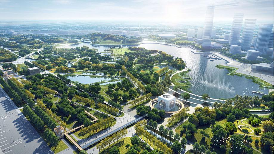 1e prijs voor tender Hefei Central Park!