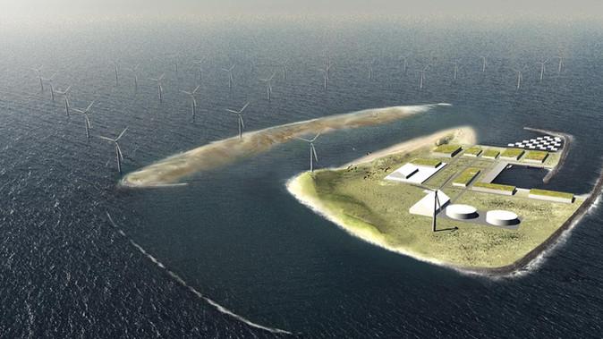Multifunctionele energie-eilanden in de Noordzee