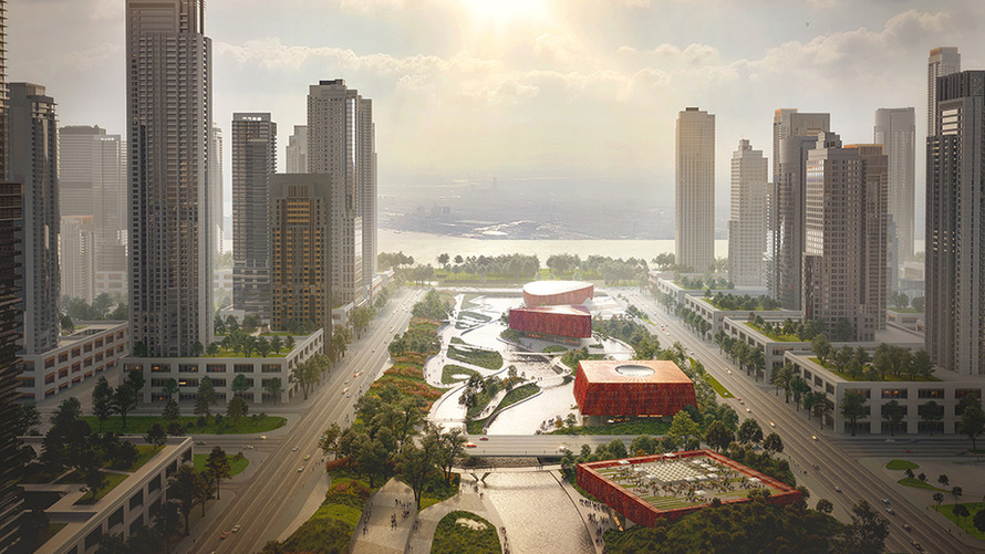 Powerhouse, Benthem Crouwel & Smartland Propose Sponge-Inspired Athlete Village for 2022 Asian G
