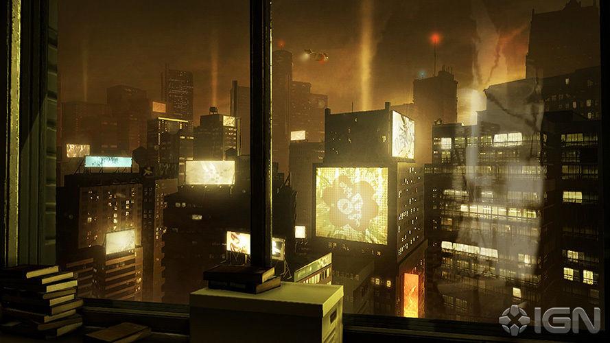 Adam Jensen Apartment Detroit Landscape