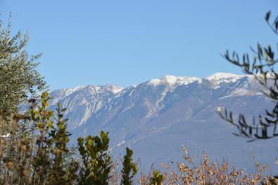 Blick von der Terrasse auf Monte Baldo