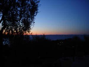 Nacht über dem Gardaee