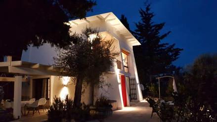Villa Bianca bei Nacht
