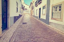 石畳の街道