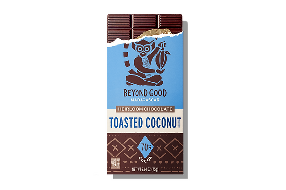 Madécasse Beyond Good –  TOASTED COCONUT 70% cacao - Vegan Pure Chocolate