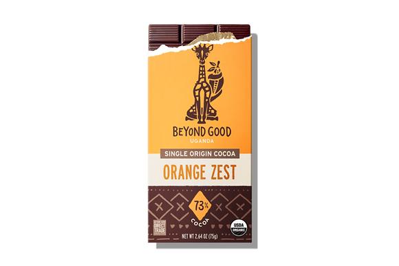 Madécasse Beyond Good –  ORANGE ZEST 73% cacao - Vegan Pure Chocolate