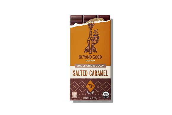 Madécasse Beyond Good –  SALTED CARAMEL 73% cacao - Vegan Pure Chocolate