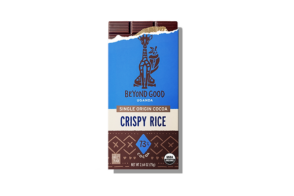 Madécasse Beyond Good –  Crispy Rice 73% Cacao - Vegan Pure Chocolate