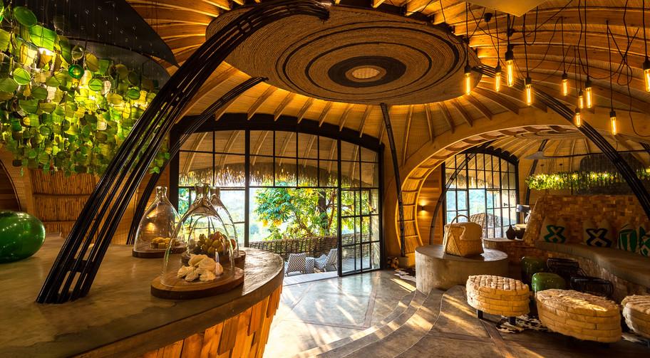 African Travels Rwanda Bisate lodge entr