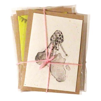 Elephant dung postcards