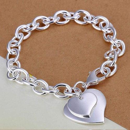 Heart Charm link chain  Bracelets