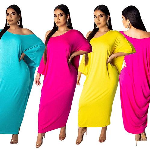 Summer Colorful Off Shoulder Maxi Dresses