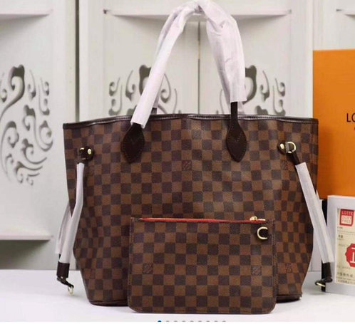 Checkered Handbags with Inner Lining