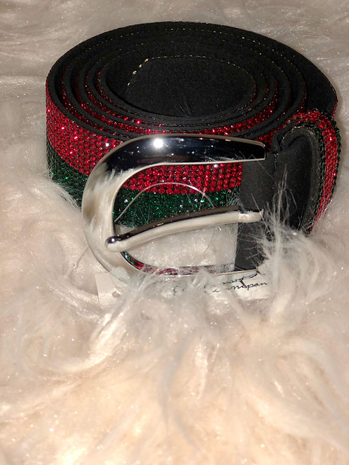 Red and Green Studded Belt