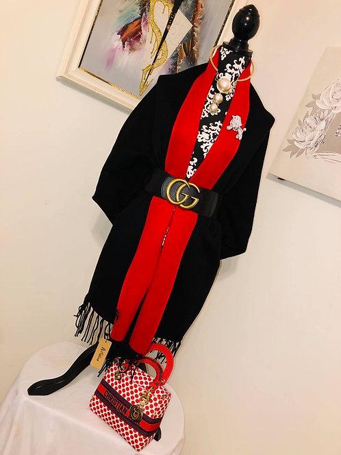 Sweater Style Cardigan Shawl w/Sleeves